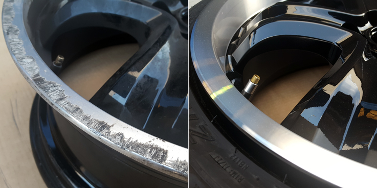 Restauraci n de garganta y aro pulido negro y plata - Pulir llantas de aluminio a espejo ...